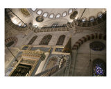 Interior Of The Suleymaniye Mosque, Istanbul Photographic Print by Rebecca Erol