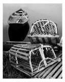 Lobster Traps And Dory Photographic Print by Clarence Carvell