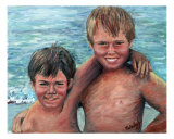 Brothers Giclee Print by Nadine Rippelmeyer