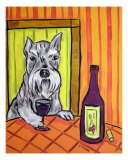 Schnauzer At The Wine Bar Giclee Print by Jay Schmetz