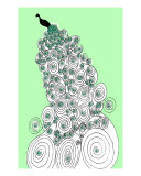 Peacock Green Giclee Print by Allyson K Ricketts