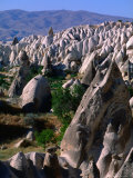 Layers of Volcanic Tuff Near Goreme, Cappadocia, Turkey Photographic Print by Anders Blomqvist