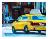 NY Yellowcab 3 Photographic Print by Andreas Dambietz