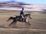 Game of Cirit, Javelin Throwing on Horseback, Blur, Erzurum, Turkey Photographic Print by Anders Blomqvist