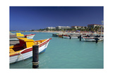 View of Palm Beach from the Fishing Pier Aruba Photographic Print by George Oze