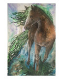 Ever Green 1st Element, Earth Giclee Print by Sherry Shipley