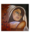 White Veiled Woman Giclee Print by Jill St. Claire