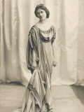 Isadora Duncan American Dancer in a Long Robe Photographic Print