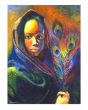 African Girl Giclee Print by Mary Rucker