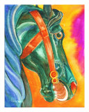 Thalo Carousel Giclee Print by Donna Ridgway