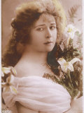 Mabel Love English Actress and Dancer with a Bunch of Flowers Photographic Print