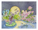 Anns Garden Giclee Print by Judy Newcomb
