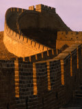 Great Wall of China at Sunset, Badaling, China Photographic Print by Nicholas Pavloff