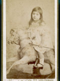 Eric James Age 3 Rides His Rocking Horse Photographic Print