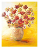 Textured Flowers In A Vase Photographic Print by Nadine Rippelmeyer