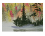 Fall Colors With Pines Giclee Print by Patricia Ackor