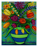 Funky Town Bouquet Giclee Print by Lisa Lorenz