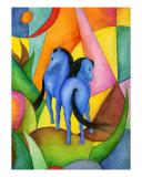 Blue Horses Giclee Print by Miriam Nerlove