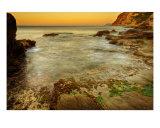 Aube Orange Sur La Mer Mediterranee - Provence Photographic Print by Patrick Morand