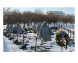 Korean War Veterans Memorial Snow Photographic Print by William Luo