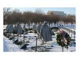 Korean War Veterans Memorial Snow Photographic Print by William Luo