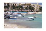 Sports Fishing Boats of Playa del Carmen Mexico Photographic Print by George Oze