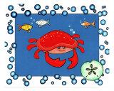 Crabby Giclee Print by Cheryl Burke
