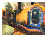 Mexican Court Yard Giclee Print by Mary Rucker