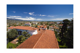 Red Tile Roofs Of Santa Barbara California Photographic Print by George Oze