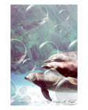 Dolphin Bubbles Photographic Print by Valerie Cooper