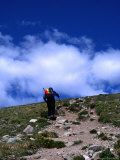 Climber Heading to the Summit of Mt. Elbert, Colorado, USA Photographic Print by Cheyenne Rouse