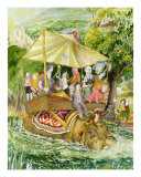 The Hippo Ferry Giclee Print by Michael Ford
