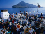People on Board Inter-Island Ferries, Sicily, Italy Photographic Print by Dallas Stribley