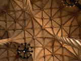 Ceiling Detail of 15th Century Lonja (Commodity and Silk Market), Valencia, Spain Photographic Print by Johnson Dennis