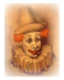 Gino The Clown Giclee Print by Nicola Foote