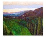 Mountain Valley Giclee Print by Michael Forzato