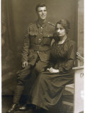 Soldier and His Wife or Girlfriend Photographic Print by Scott Leytonstone