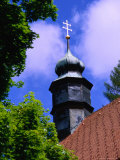 Church Steeple in Black Forest, Triberg, Baden-Wurttemberg, Germany Photographic Print by Johnson Dennis