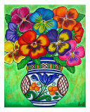 Pansy Parade Giclee Print by Lisa Lorenz