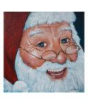 Merry Santa Giclee Print by Glenn Pollard