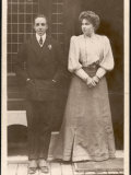 Aldonso XIII King of Spain with His Fiancee Victoria Eugenia Von Battenberg Photographic Print