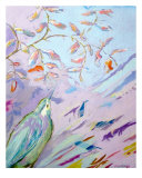Fishing Bird Giclee Print by Dawn Wagner