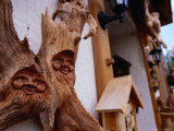 Carvings Outside Woodcarving Shop in Black Forest, Triberg, Baden-Wurttemberg, Germany Photographic Print by Johnson Dennis