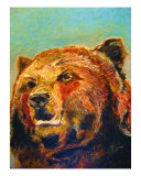 Grizzly Bear Giclee Print by Michael Forzato
