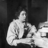 Sylvia Pankhurst Sitting at Her Desk Writing a Letter Photographic Print