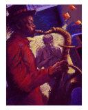 Jazz Duet Giclee Print by Ellen Dreibelbis