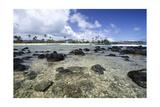 Lava Rocks of Poipu Beach Kauai Hawaii Photographic Print by George Oze