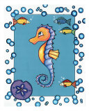 Seahorse Giclee Print by Cheryl Burke