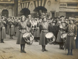 The Wspu Fife and Drum Band with Mary Leigh as the Drum-Major Photographic Print