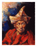 The Laughing Monk Giclee Print by Ellen Dreibelbis